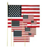 Small US Flags On A Stick