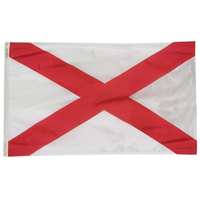 5x8 ft. Nylon Alabama Flag with Heading and Grommets