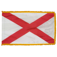 3x5 ft. Nylon Alabama Flag Pole Hem and Fringe