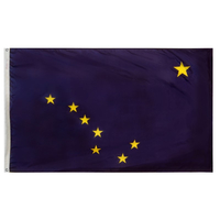5x8 ft. Nylon Alaska Flag with Heading and Grommets
