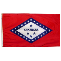 5x8 ft. Nylon Arkansas Flag with Heading and Grommets