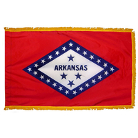 3x5 ft. Nylon Arkansas Flag Pole Hem and Fringe