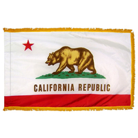 3x5 ft. Nylon California Flag Pole Hem and Fringe