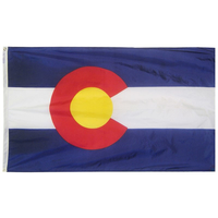6x10 ft. Nylon Colorado Flag with Heading and Grommets