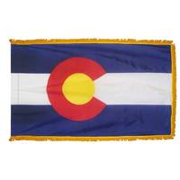 3x5 ft. Nylon Colorado Flag Pole Hem and Fringe