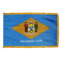 3x5 ft. Nylon Delaware Flag Pole Hem and Fringe