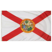 5x8 ft. Nylon Florida Flag with Heading and Grommets
