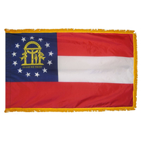 3x5 ft. Nylon Georgia Flag Pole Hem and Fringe