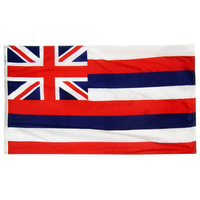 6x10 ft. Nylon Hawaii Flag with Heading and Grommets
