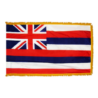 4x6 ft. Nylon Hawaii Flag Pole Hem and Fringe