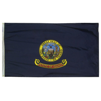 6x10 ft. Nylon Idaho Flag with Heading and Grommets
