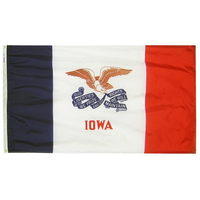 5x8 ft. Nylon Iowa Flag with Heading and Grommets