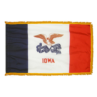 3x5 ft. Nylon Iowa Flag Pole Hem and Fringe