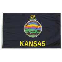 4x6 ft. Nylon Kansas Flag with Heading and Grommets