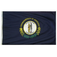 2x3 ft. Nylon Kentucky Flag with Heading and Grommets