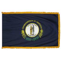 3x5 ft. Nylon Kentucky Flag Pole Hem and Fringe