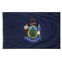 3x5 ft. Nylon Maine Flag with Heading and Grommets