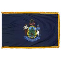 3x5 ft. Nylon Maine Flag Pole Hem and Fringe