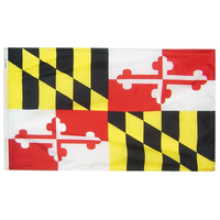 5x8 ft. Nylon Maryland Flag with Heading and Grommets