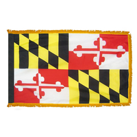 3x5 ft. Nylon Maryland Flag Pole Hem and Fringe