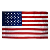2.5x4 ft. Nylon U.S. Flag Pole Hem Plain