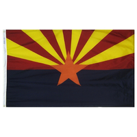 6x10 ft. Nylon Arizona Flag with Heading and Grommets