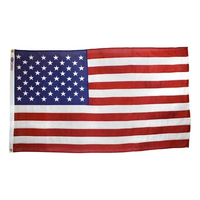 5x9.5 ft. Cotton U.S. Flag with Heading and Grommets