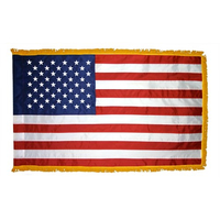 2.5x4 ft. Nylon U.S. Flag Pole Hem and Fringe