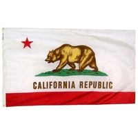 10x15 ft. Strong Polyester California Flag Roped Header