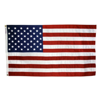 2.5x4 ft. Strong Polyester U.S. Flag with Heading and Grommets