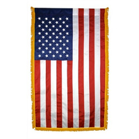 2.5x4 ft. Nylon U.S. Flag Vertical Banner Fringe