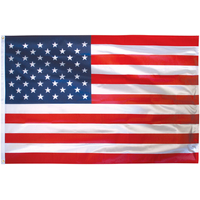 2.5x4 ft. Poly Cotton U.S. Flag Pole Hem Plain