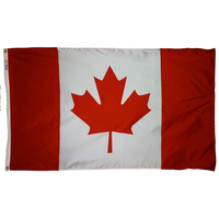 2x3 ft. Nylon Canada Flag with Heading and Grommets