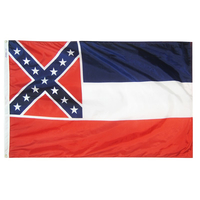 6x10 ft. Nylon Mississippi Flag with Heading and Grommets