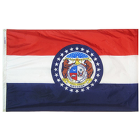 6x10 ft. Nylon Missouri Flag with Heading and Grommets