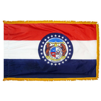 4x6 ft. Nylon Missouri Flag Pole Hem and Fringe