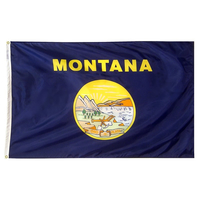 5x8 ft. Nylon Montana Flag with Heading and Grommets