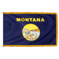 4x6 ft. Nylon Montana Flag Pole Hem and Fringe