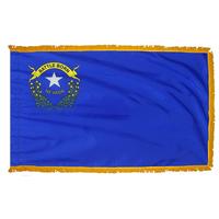 3x5 ft. Nylon Nevada Flag Pole Hem and Fringe