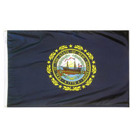 2x3 ft. Nylon New Hampshire Flag with Heading and Grommets