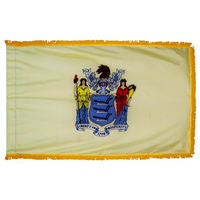 4x6 ft. Nylon New Jersey Flag Pole Hem and Fringe