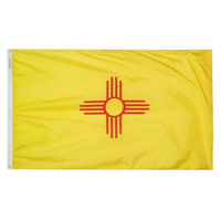 6x10 ft. Nylon New Mexico Flag with Heading and Grommets
