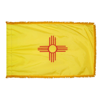3x5 ft. Nylon New Mexico Flag Pole Hem and Fringe