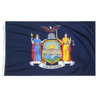 5x8 ft. Nylon New York Flag with Heading and Grommets