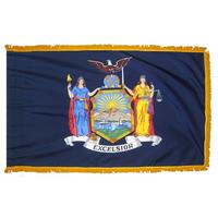 3x5 ft. Nylon New York Flag Pole Hem and Fringe
