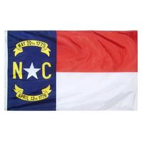 5x8 ft. Nylon North Carolina Flag with Heading and Grommets