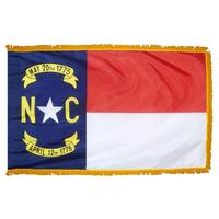 3x5 ft. Nylon North Carolina Flag Pole Hem and Fringe