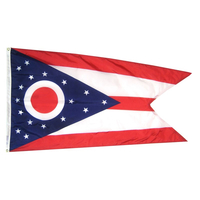 5x8 ft. Nylon Ohio Flag with Heading and Grommets
