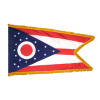 3x5 ft. Nylon Ohio Flag Pole Hem and Fringe