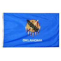 5x8 ft. Nylon Oklahoma Flag with Heading and Grommets